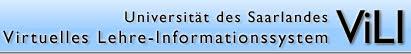 ViLI :: Virtuelles Lehre Informationssystem :: Universität des Saarlandes